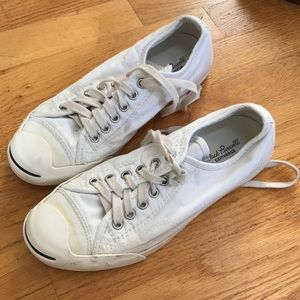all white jack Purcell's (converse)